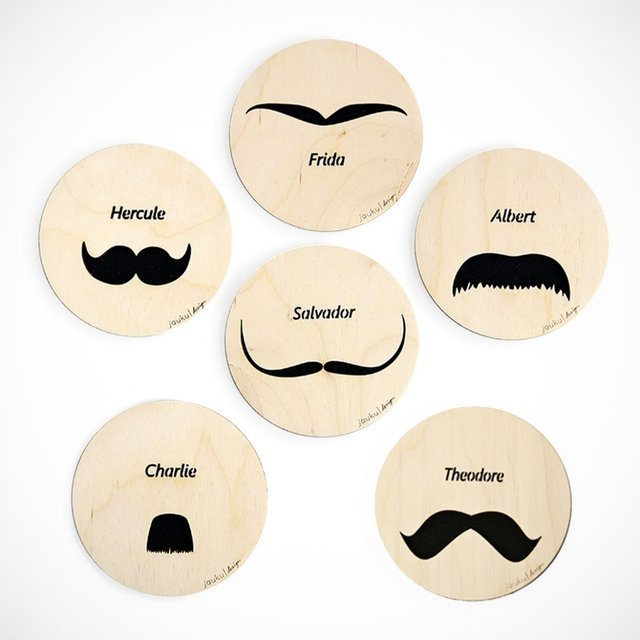 Intellectual Mustache Coasters