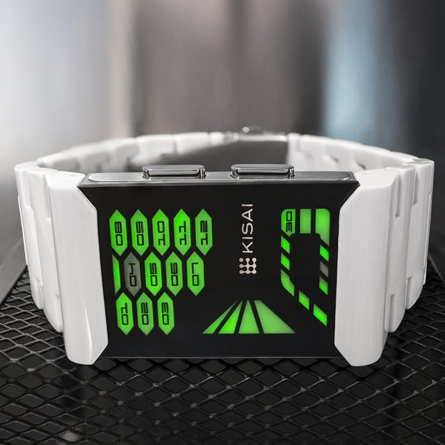 Kisai Console Acetate White LED Watch