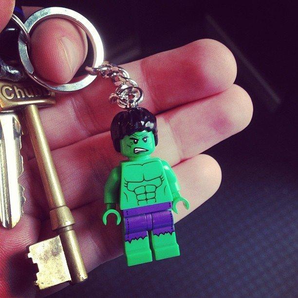 Lego Hulk Keychain