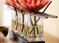 Triple Lotus Faux Floral Piece