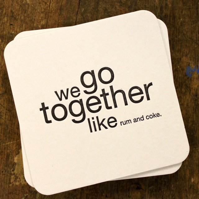 We Go Together Coasters
