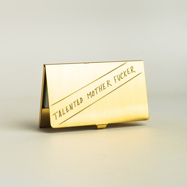 Brass Card Case by In God We Trust