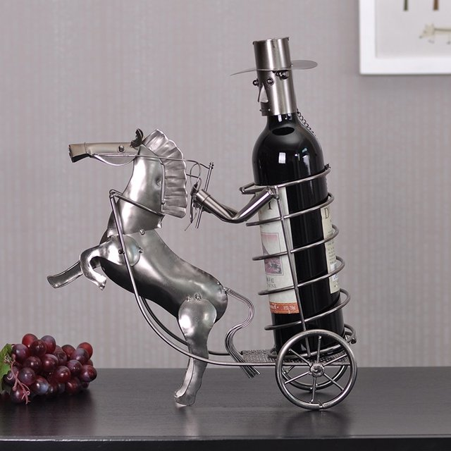 Carriage Wine Holder