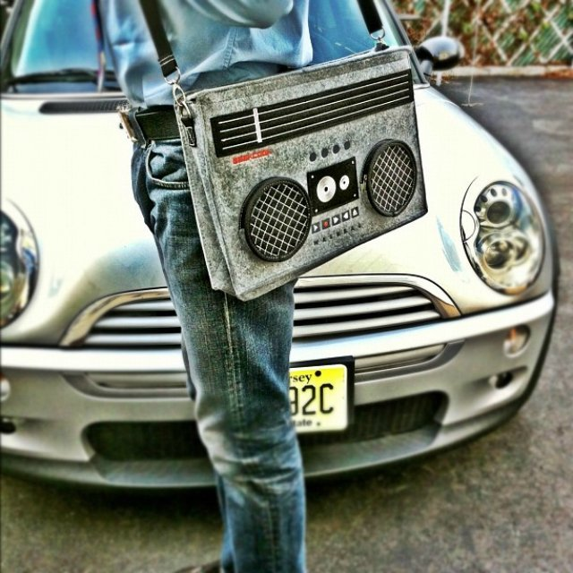 Classic 80′s Boombox Bag by GeekCook
