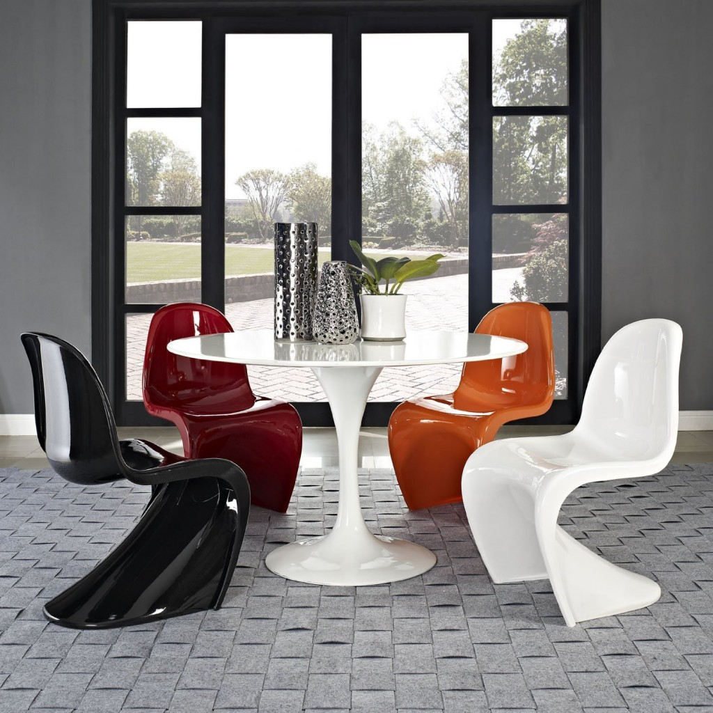 classic retro modern panton s dining chairs petagadget. Black Bedroom Furniture Sets. Home Design Ideas