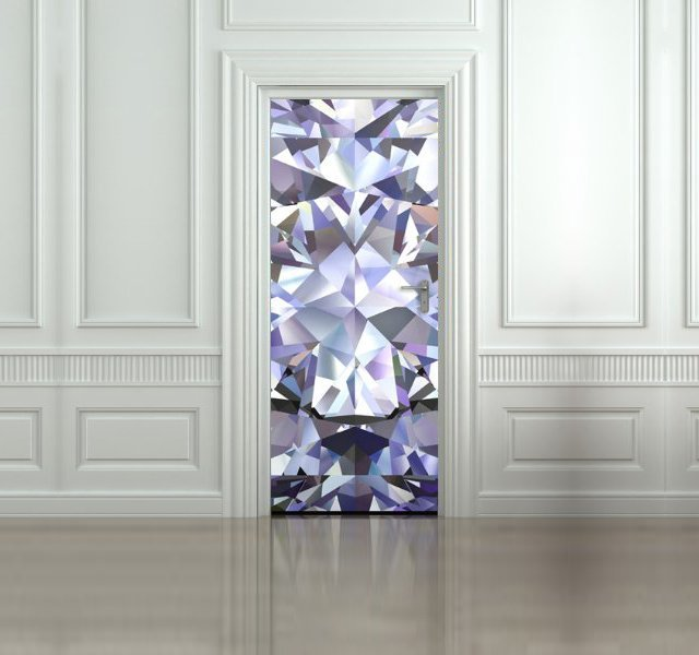 Diamond Door Decal