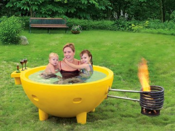 Fire Burning Portable Hot Tub