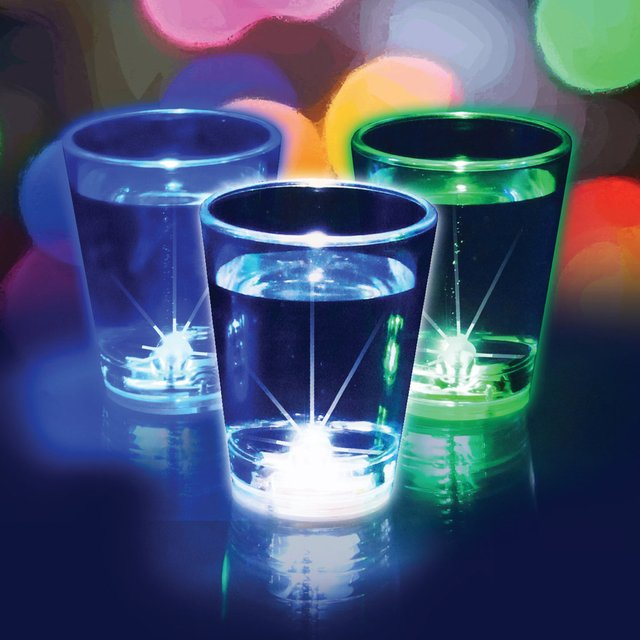 Flashing Shot Glasses