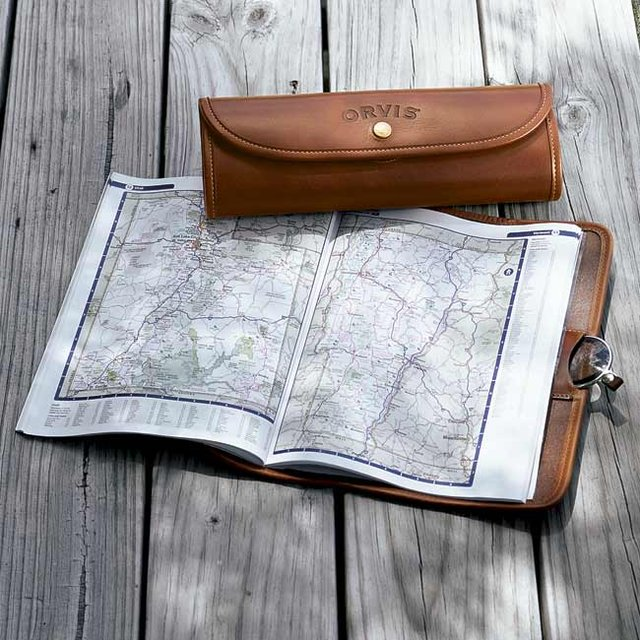 Leather Road Atlas Case