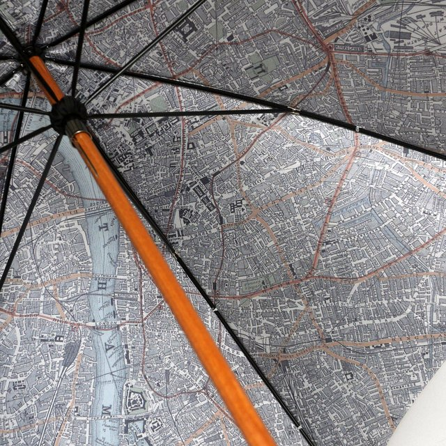 Map-Lined Umbrella by London Undercover