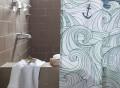 Odyssey Shower Curtain by Danica Studio