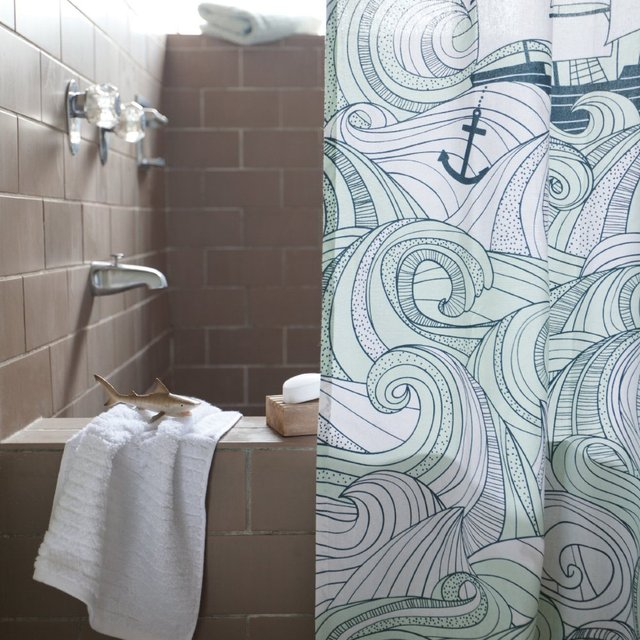 Odyssey Shower Curtain by Danica Studio
