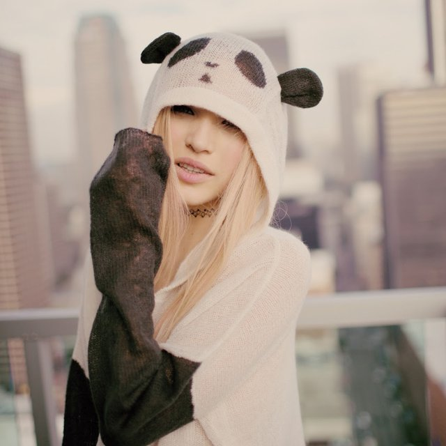 Panda Face Hooded Sweater by Wildfox