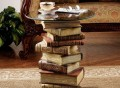Power of Books Glass-Topped Side Table