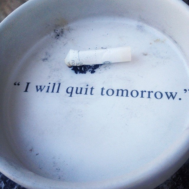Quit Tomorrow Ashtray