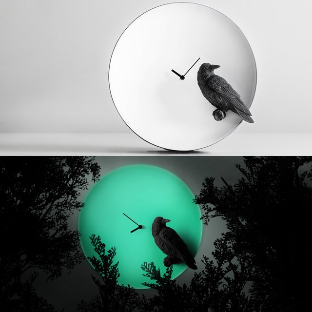 Raven Moon X Clock by Haoshi Design