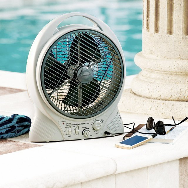 Rechargeable Fan with Radio & MP3 Port