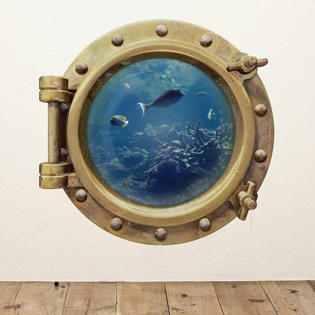Underwater Porthole Wall Sticker