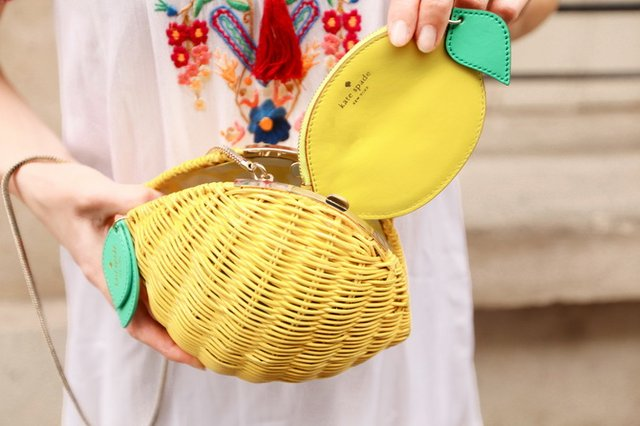 Vita Riva Wicker Lemon by Kate Spade
