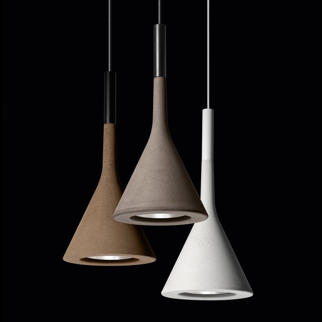 Aplomb Concrete Pendant Lamp by Foscarini