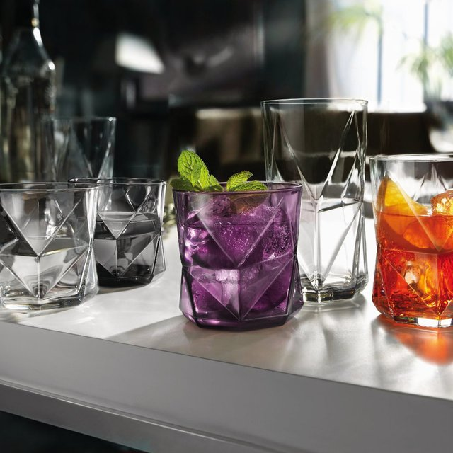 Cassiopea Faceted Glassware by Bormioli Rocco