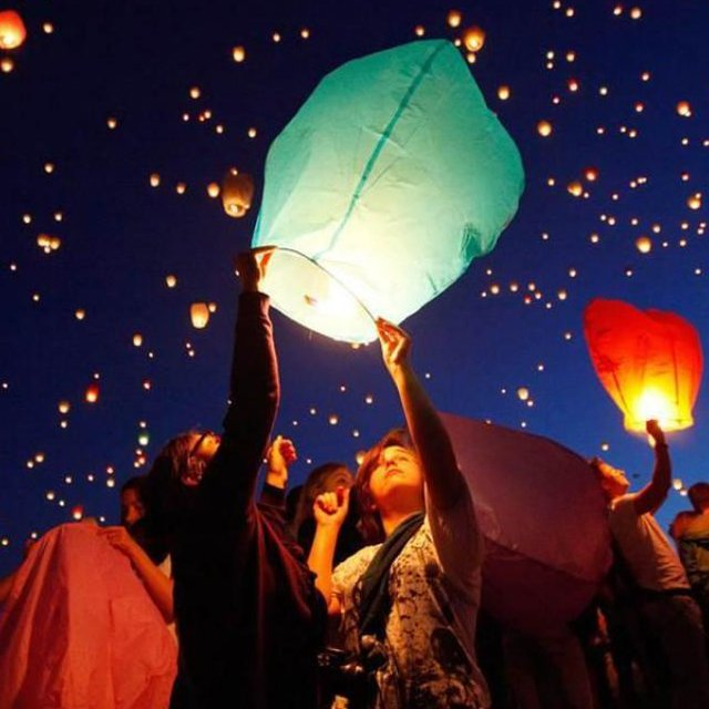 Eco Colored Wish Lanterns