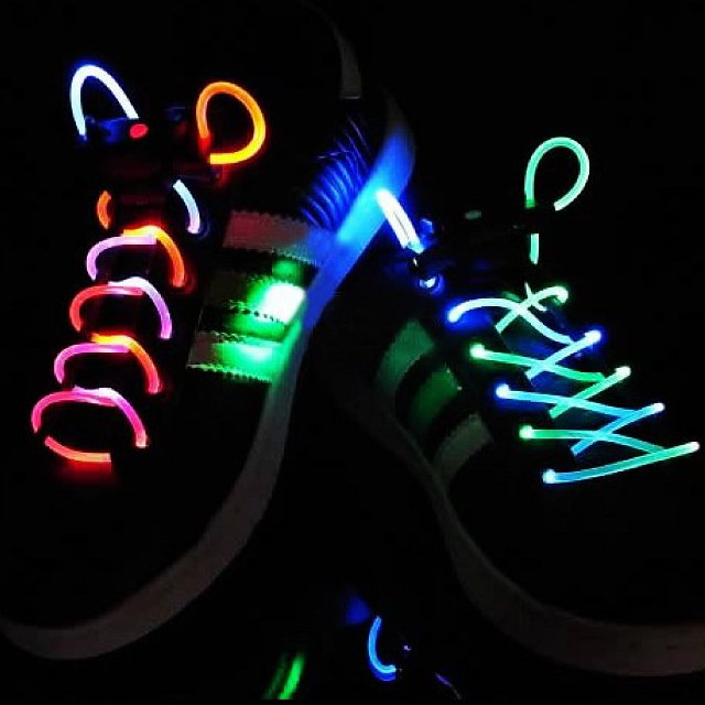 Fiber Optic Laser Laces