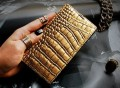 Gold Croco Leather Galaxy S5 Case