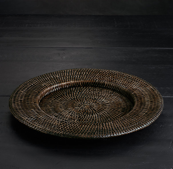 Handwoven Rattan Charger