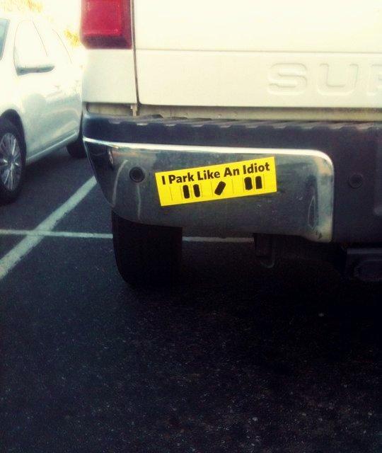 I Park Like an Idiot Bumper Sticker