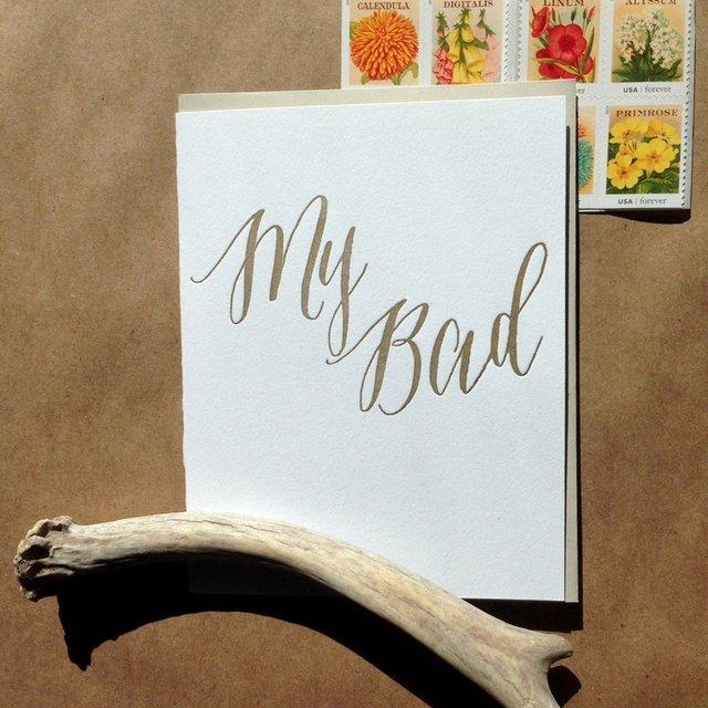 My Bad Card by Creativity