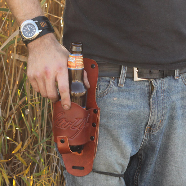 Outlaw Leather Beer Holster
