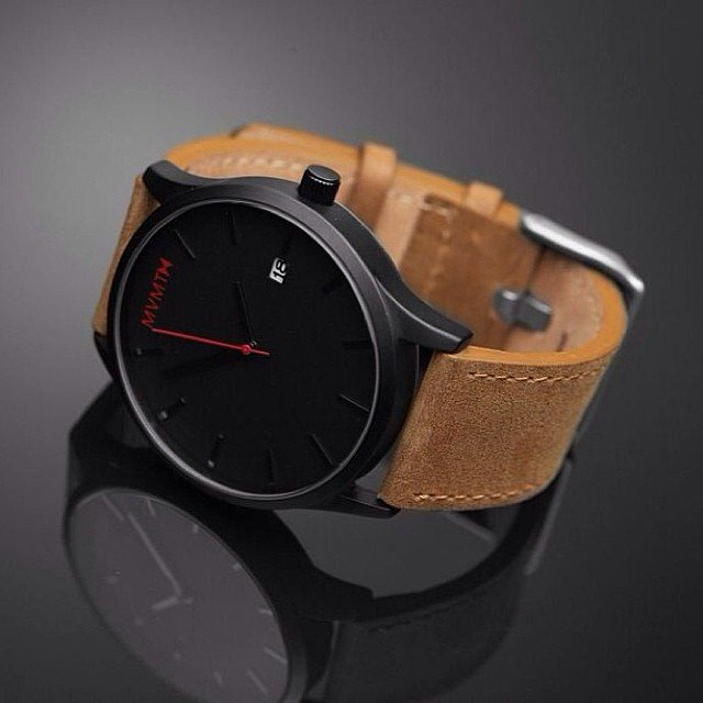 Black and Tan Watch by MVMT