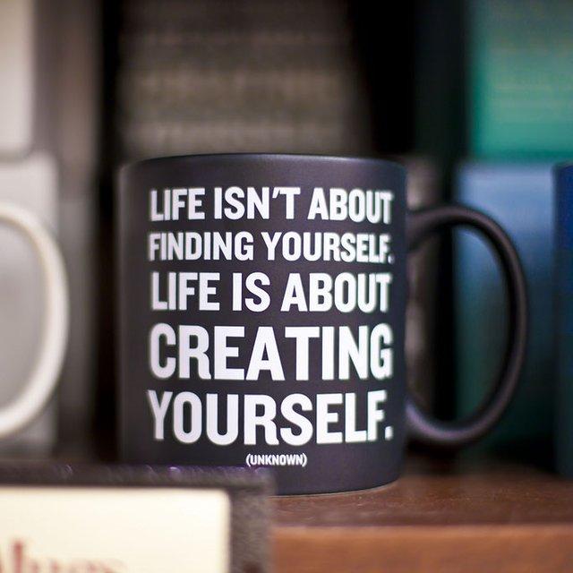 Creating Yourself Quotable Mug