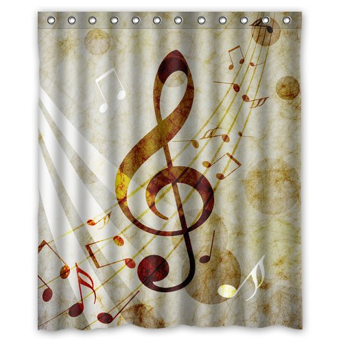 Music Note Soft Shower Curtain