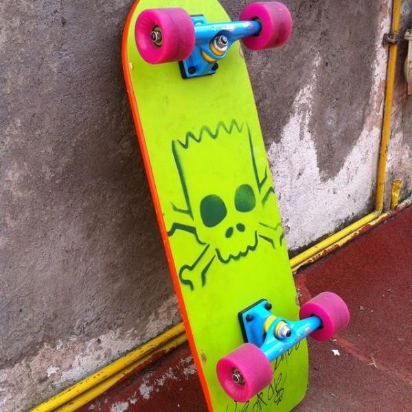 Simpsons Bart Cruzer Skateboard by Santa Cruz