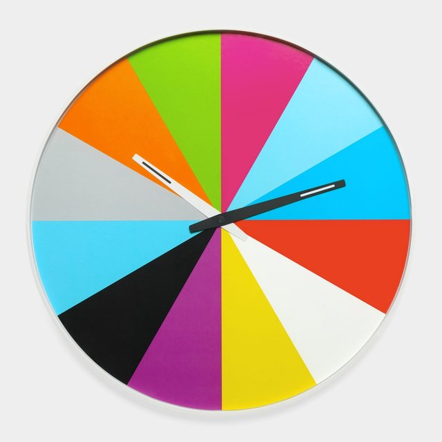 Ultra-Flat Multicolor Wall Clock