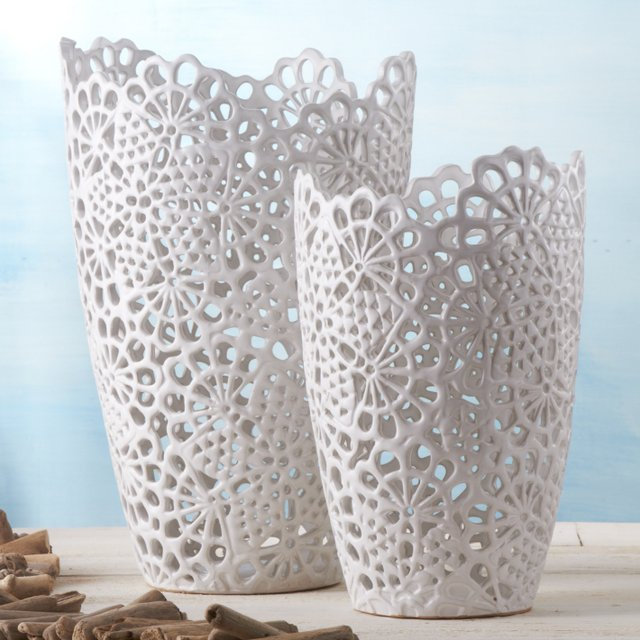 Ceramic Cutwork Vases