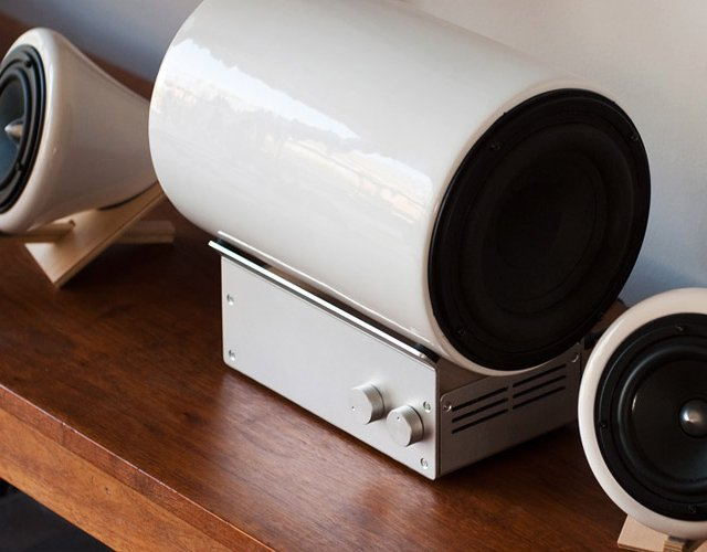 Ceramic Speakers & Subwoofer by Joey Roth
