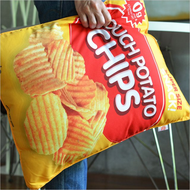 Couch Potato Chips Cushion