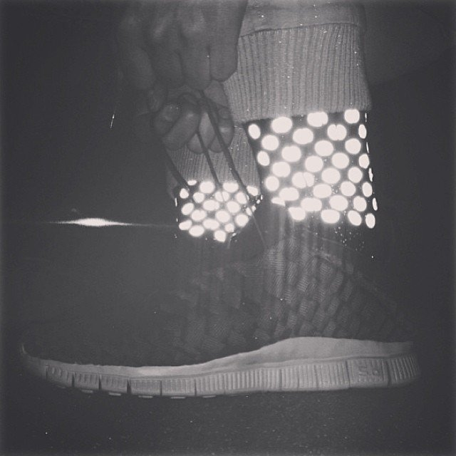 Dotted 3M Reflective Socks by ICNY