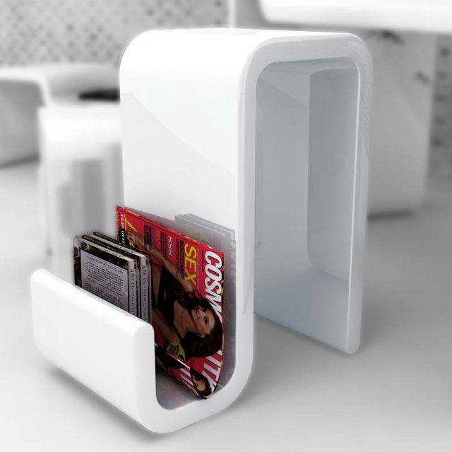 Elina Stool & Magazine Rack