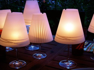 Gorgeous Helen Wine Glass Lampshades