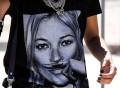 Kate Moss Mustache Tee