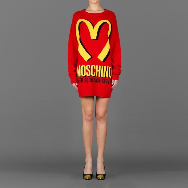 Long Sleeved Jacquard Jumper by Moschino