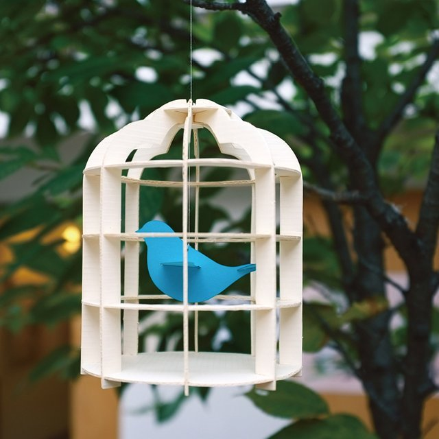 Paper Mobile Birdcage