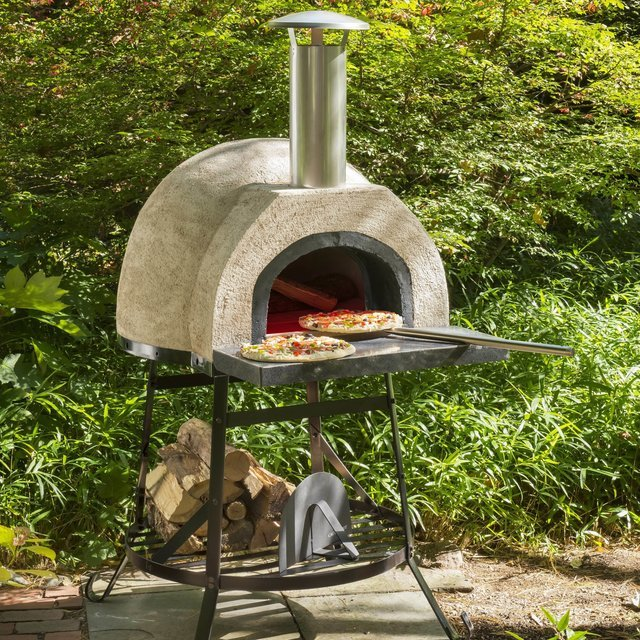 Rustic Cedar Wood Fired Oven