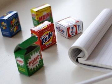 Scented Detergent Erasers