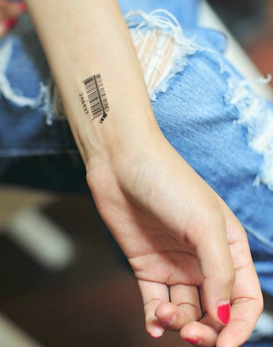Barcode Temporary Tattoos