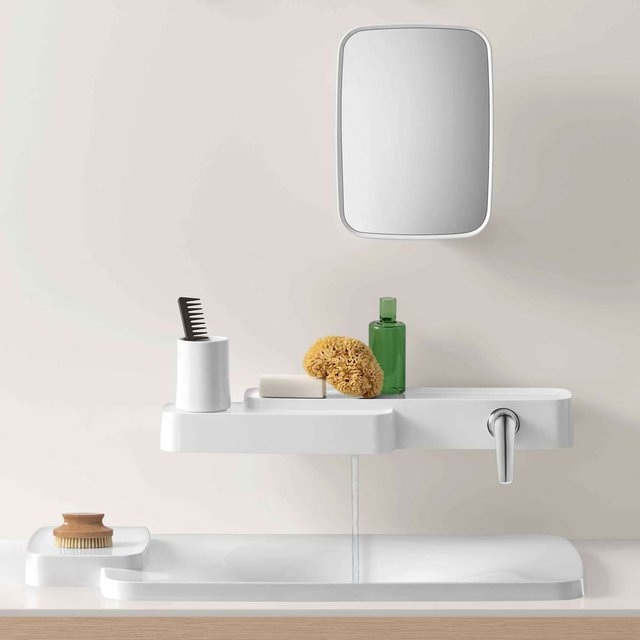 Bouroullec Shelf + Single-Handle Faucet